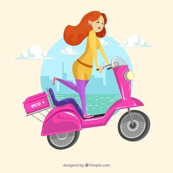 Concepto femenino de moto eléctrico