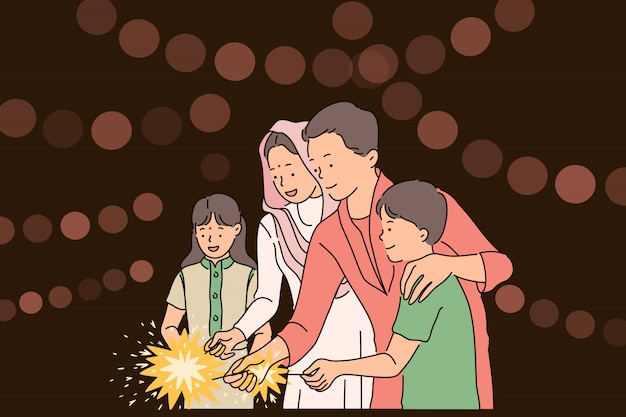 Concepto de festival de diwali o deepawali.