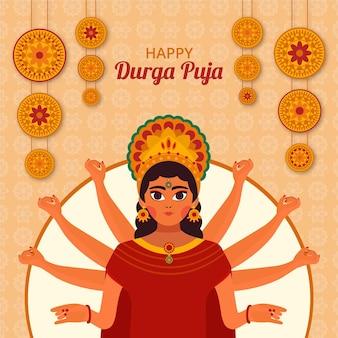 Concepto de festival de durga puja