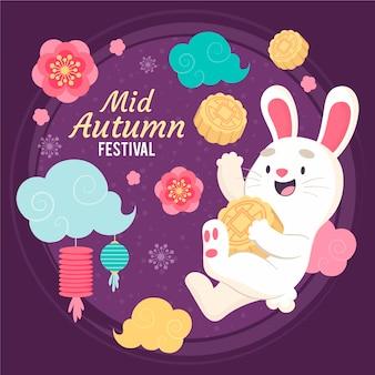 Concepto de festival del medio otoño