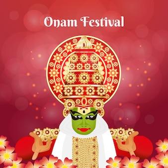 Concepto de festival onam plano