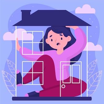 Concepto de fiebre de cabina