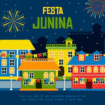 Concepto de fiesta junina
