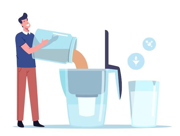 Concepto de filtración de agua