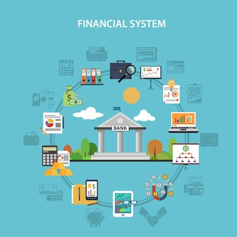 Concepto de finanzas plana