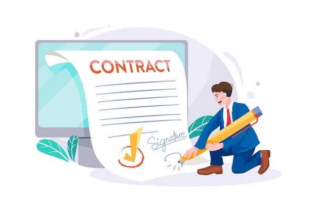 Concepto de firma electrónica de documentos
