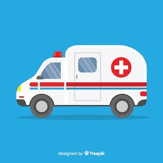 Concepto flat de ambulancia