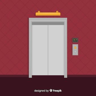 Concepto flat de ascensor
