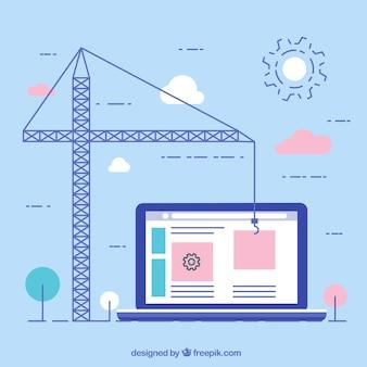 Concepto flat de diseño web