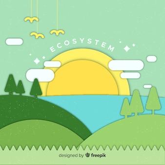 Concepto flat del ecosistema