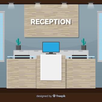 Concepto flat de recepción