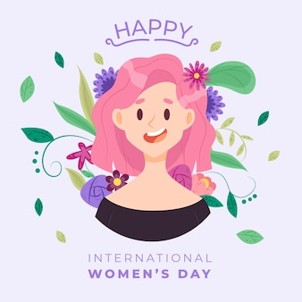 Concepto floral del día internacional de la mujer