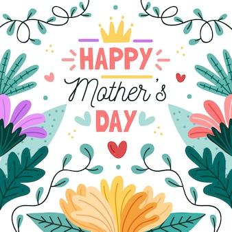 Concepto floral del día de la madre del evento