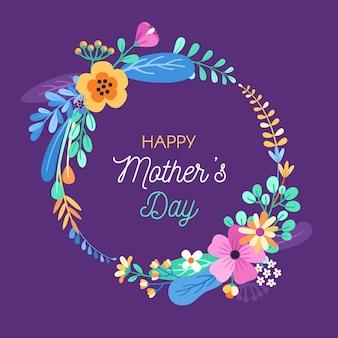 Concepto floral del día de la madre