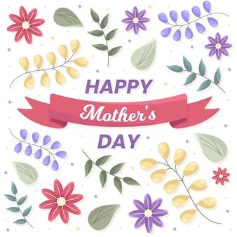 Concepto floral del día de las madres felices