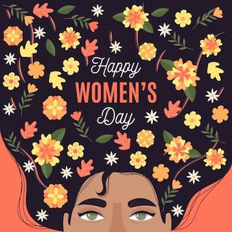 Concepto floral para el día de la mujer.