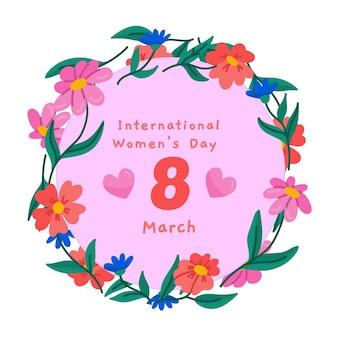 Concepto floral del día de la mujer