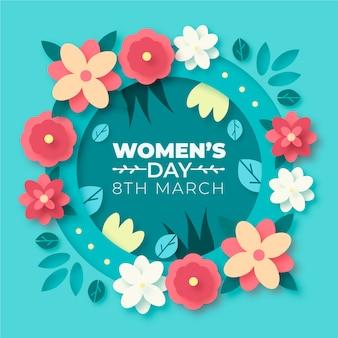 Concepto floral del día de las mujeres