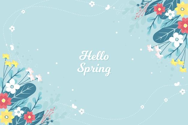 Concepto floral de primavera hola