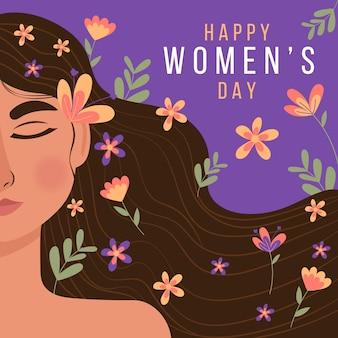 Concepto de flores para el día de la mujer.