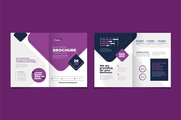 Concepto de folleto comercial