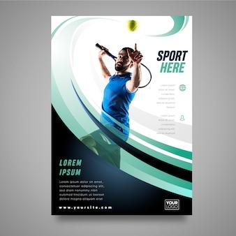 Concepto de folleto deportivo