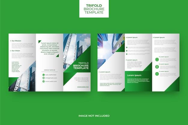 Concepto de folleto tríptico abstracto