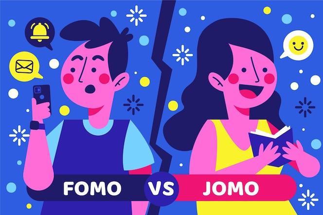 Concepto fomo vs jomo