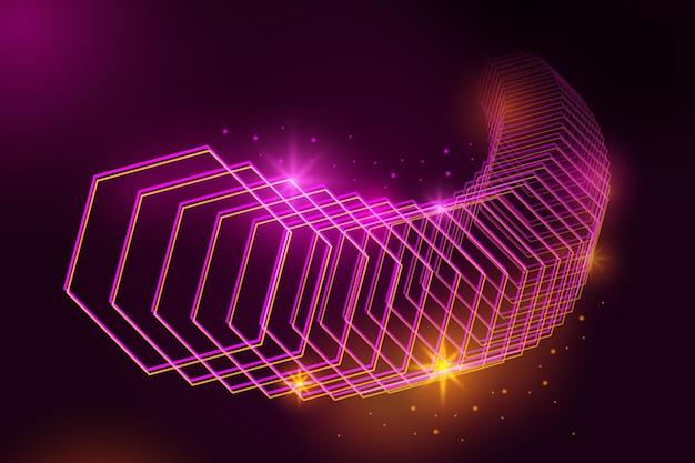 Concepto de fondo abstracto luces de neón