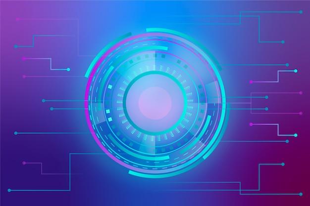Concepto de fondo abstracto de tecnología