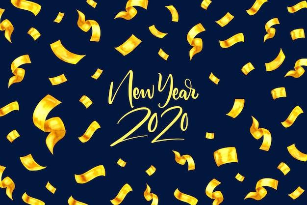 Concepto de fondo acuarela año nuevo 2020