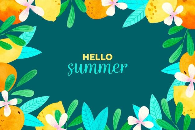 Concepto de fondo de acuarela verano