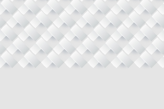 Concepto de fondo blanco en estilo de papel 3d