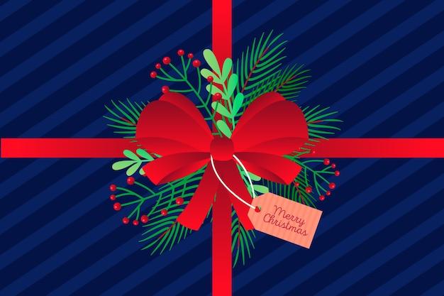 Concepto de fondo de cinta de navidad