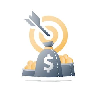 Concepto de fondo de cobertura, idea de inversión, estrategia financiera, campaña de recaudación de fondos, objetivo de aumento de ingresos comerciales, préstamo rápido, subvención de dinero, ganar más