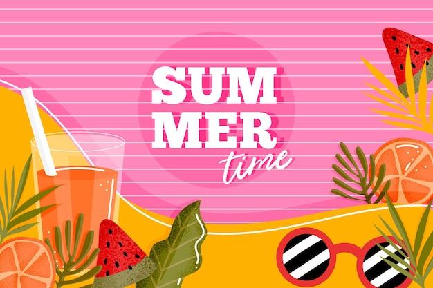 Concepto de fondo colorido verano