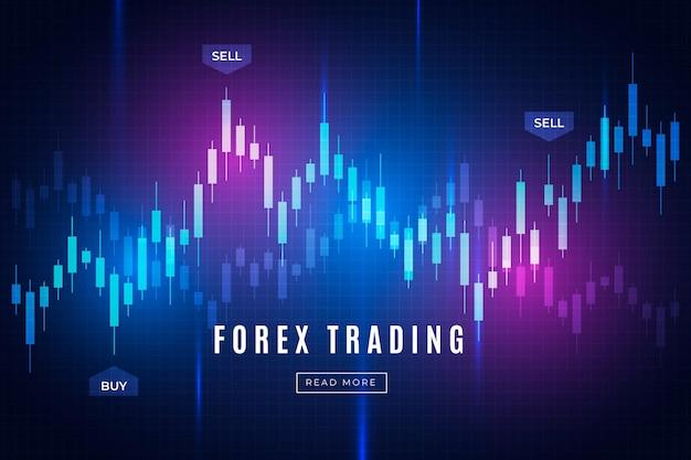 Concepto de fondo de comercio de forex