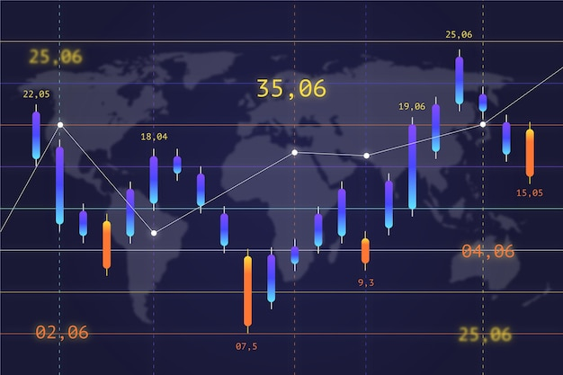 Concepto de fondo de compraventa de divisas