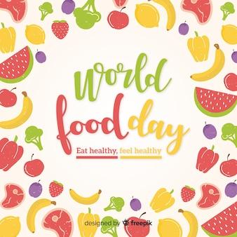 Concepto de fondo del día internacional de la comida