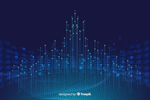 Concepto de fondo con diseño de datos abstractos