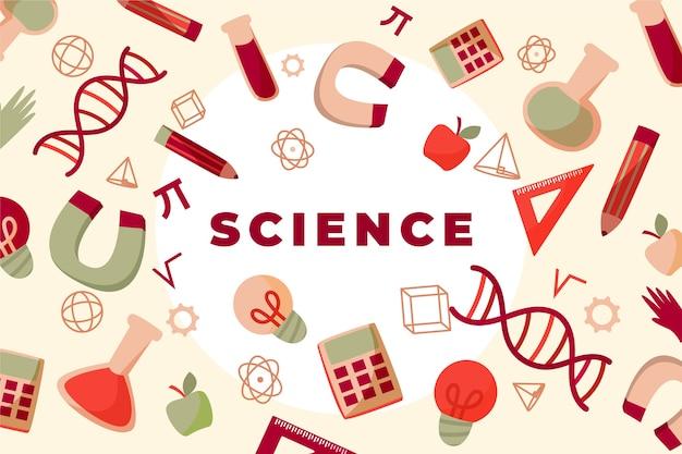 Concepto de fondo de educación científica vintage
