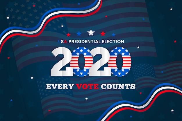 Concepto de fondo de las elecciones presidenciales estadounidenses de 2020