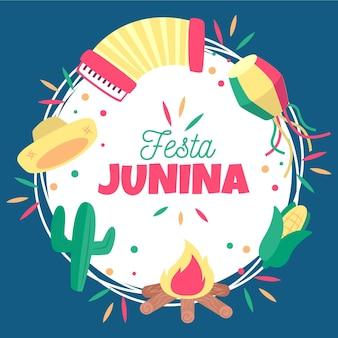 Concepto de fondo de festa junina