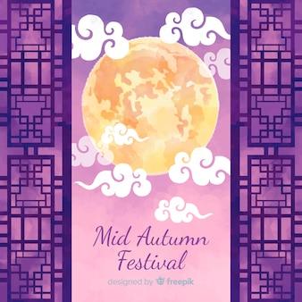 Concepto de fondo para el festival de medio otoño
