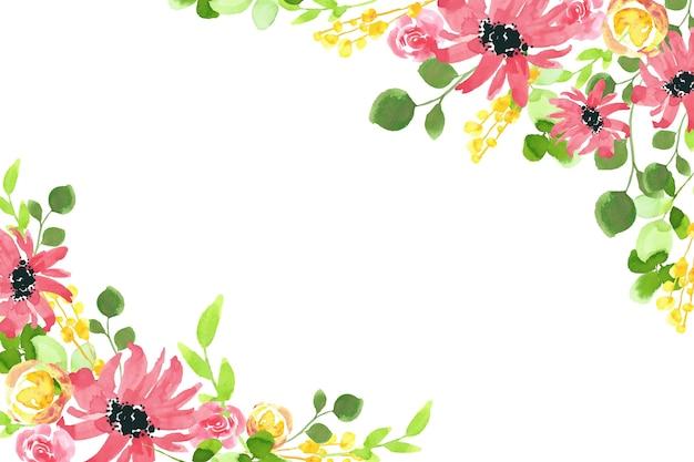 Concepto de fondo floral acuarela