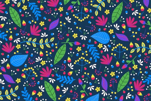 Concepto de fondo floral exótico colorido