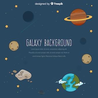 Concepto de fondo de galaxia