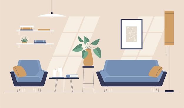 Concepto de fondo interior de casa