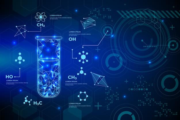 Concepto de fondo de laboratorio de ciencia futurista