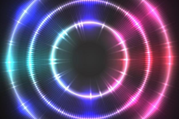 Concepto de fondo de luces de neón